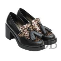 Туфли-лоферы на каблуке Tosca Blu SF1610S181 nero