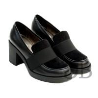 Туфли-лоферы на каблуке Tosca Blu SF1610S185 nero