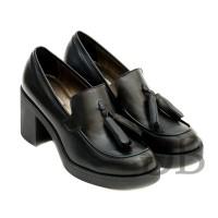 Туфли-лоферы на каблуке Tosca Blu SF1610S195 nero