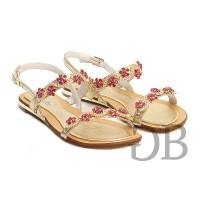 Сандалии украшенные цветами Tosca Blu SS1613S246 fucsia