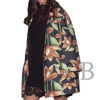 Пальто с принтом Tosca Blu TF1635A18 multicolor