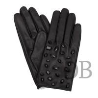 Кожаные перчатки со стразами Tosca Blu TF1658G76 nero