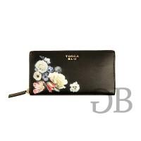 Большой кошелек на молнии с принтом цветов Tosca Blu TF171P303 nero
