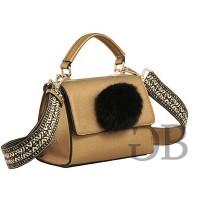 Мини-сумочка хэндбэг с помпоном Tosca Blu TF1722B90 oro antico