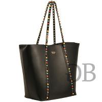Большая сумка-шоппер с орнаментом Tosca Blu TF1731B60 nero