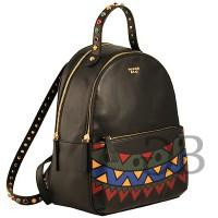 Рюкзак с орнаментом Tosca Blu TF1731B62 nero