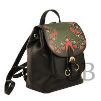 Рюкзак с орнаментом Tosca Blu TF1732B91 nero-rosso