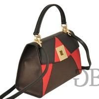 Небольшая трехцветная сумка с клапаном Tosca Blu TF17OB222 nero-rosso-testa di moro