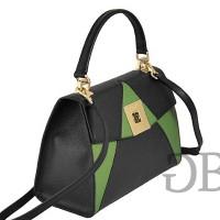 Небольшая трехцветная сумка с клапаном Tosca Blu TF17OB222 nero-verde-grigio