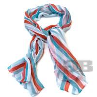 Платок в полоску 180X110 Tosca Blu TS1496F33 bianco-rosso-turchese