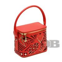 Маленькая сумочка с лазерными вырезами Tosca Blu TS163B115 rosso