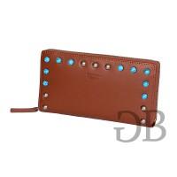 Большой кошелек на молнии с голубым бисером Tosca Blu TS176P203 cuoio