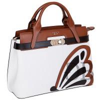 Большая сумка строгой формы с аппликацией Tosca Blu TS177B360 bianco
