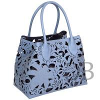 Большая сумка с лазерными вырезами Tosca Blu TS179B251 azzurro