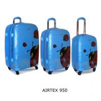Комплект чемоданов пластик Airtex 950blue