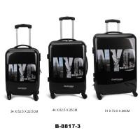 Комплект чемоданов пластик David Jones B8817-3