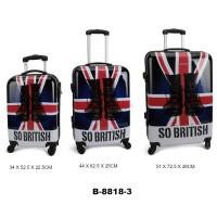 Комплект чемоданов пластик David Jones B8818-3