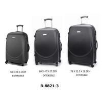 Комплект чемоданов пластик David Jones B8821-3noir