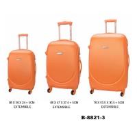 Комплект чемоданов пластик David Jones B8821-3orange