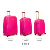 Комплект чемоданов пластик David Jones B8821-3roseviolet