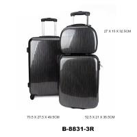 Комплект чемоданов пластик David Jones B8831-3noirrayures