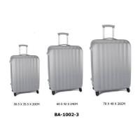 Комплект чемоданов пластик David Jones BA1002-3silver