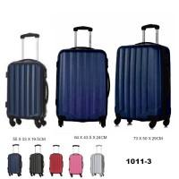 Комплект чемоданов пластик David Jones BA1011-3bleu