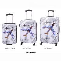 Комплект чемоданов пластик David Jones BA2049-3