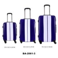 Комплект чемоданов пластик David Jones BA2061-3bleumarine