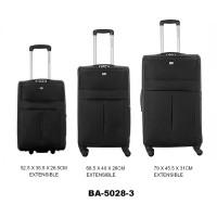 Комплект чемоданов текстиль David Jones BA5028-3noir