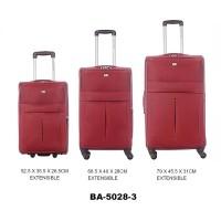 Комплект чемоданов текстиль David Jones BA5028-3rouge
