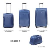 Комплект чемоданов текстиль David Jones BR2000-4bleu