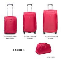 Комплект чемоданов текстиль David Jones BR2000-4rouge