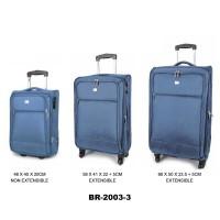 Комплект чемоданов текстиль David Jones BR2003-3bleu