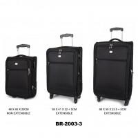 Комплект чемоданов текстиль David Jones BR2003-3noir