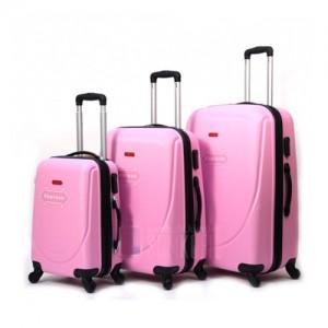 Комплект чемоданов пластик Gravitt DS602M-rose